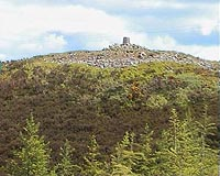 """One of the cairns upon Lough-an-Leagh mountain that we are trying to preserve."""
