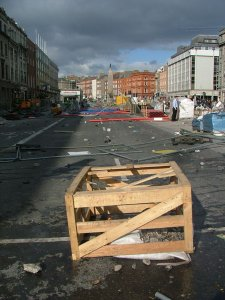 Burning Lump of Rubble on Waste-Strewn O Connell Street