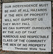 Wolfe Tone commemoration, Sunday 26th June 2016.