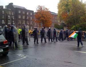 Riot police on Stephens Green