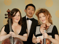 The Syrius Trio.  From left Jane O'Hara, Bobby Chen, Elizabeth Cooney.