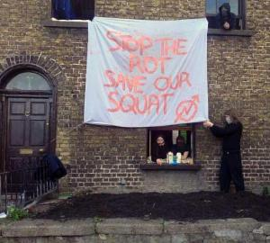 Resistance from Dublin 7 squatters earlier this year