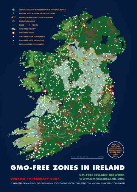 GM Free Map of Ireland as of 2007