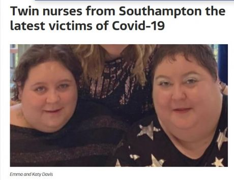 Recent photo of the two nurses. Not as healthy looking as portrayed