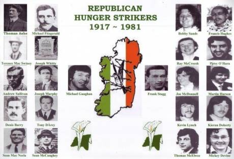 Those that have fasted to death for Ireland.