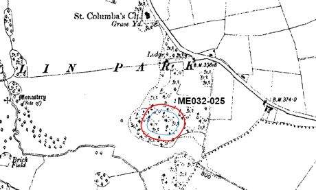 Map accompanying TPO, marking protection zone