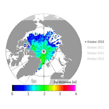 Autum sea Ice thickness - 2010