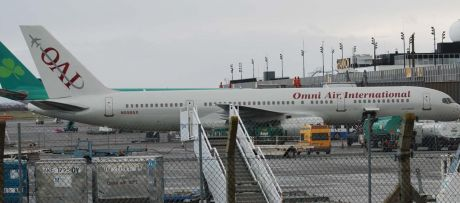 OMNI Air troop carrier at Shannon 25 Jan 09