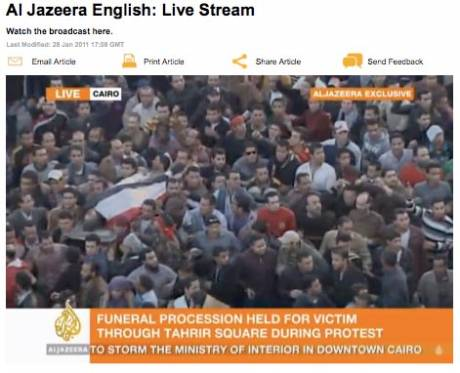 Egypt: Government plans to shut down al-Jazeera's operations in Egypt.