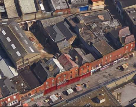 Aerial shot of the historic Moore Street buildings planned to be demolition with a nod from Minister Heather Humphreys FG