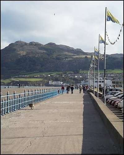 Bray Beach with its original Blue Railings