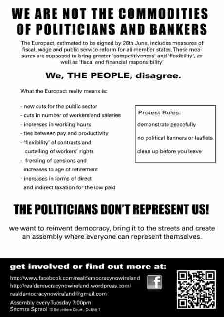 Real Democracy Now Ireland: 19J Online poster (PRINT AND DISTRIBUTE, send facebook links and TWEETS)