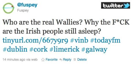 Who are the real Wallies? Why the F*CK are the Irish people still asleep???