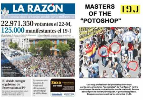 El razon - try (not very professionaly) to diminish the size of our indignation