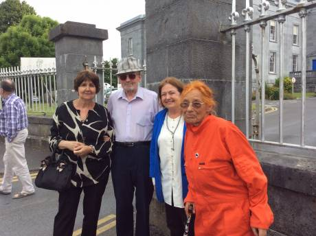 Carol, Justin, Mairead and Margaretta at Ennis