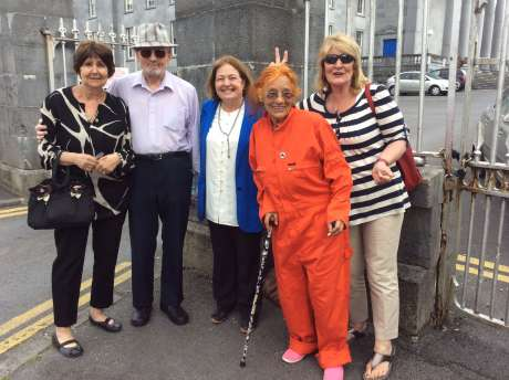 Carol, Justin, Mairead, Margaretta and Ann Patterson at Ennis