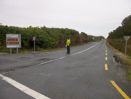 The turn-off to Pullathomas from Ballinaboy- quiet today