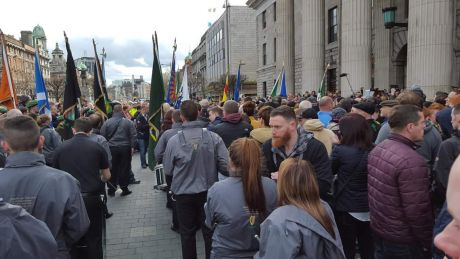 RSF at the GPO in O'Connell Street, Dublin, on Easter Monday (28th March) 2016.