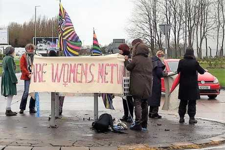 Clare Women's network at Shannon protest