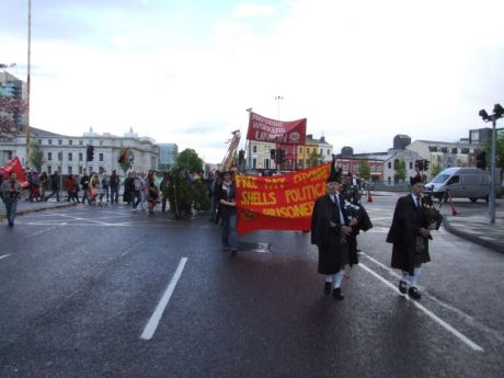The May Day march sets off