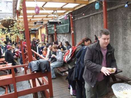 Community Meal at Fionnbarra's, May Day, lunchtime