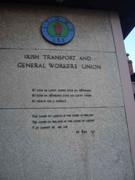 What's left of Connolly's words on Cork SIPTU HQ