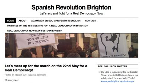 Spanish Revolution Brighton: Let's act and fight for a Real Democracy Now