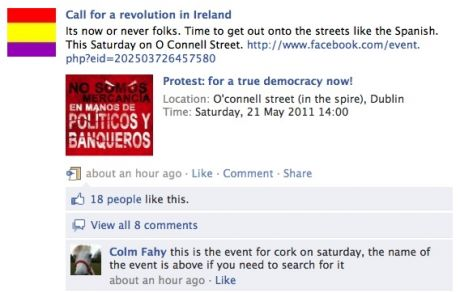 #spanishrevolution > Call for a revolution in Ireland: Called for revolutionary action in Dublin on Saturday