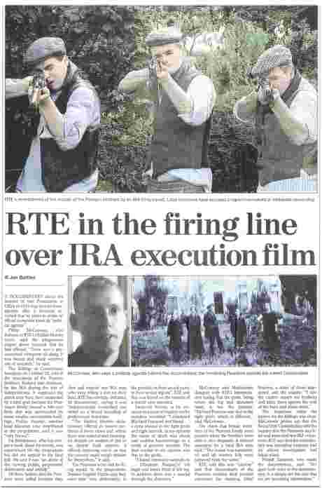 Sunday Times 4 November 07 - the reason why RTE put on Liveline programme - fear of the Broadcasting Complaints Commission