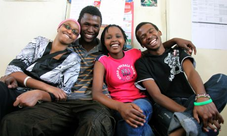 Leyla, Victor, Esther and James from Slum TV