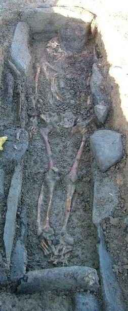 Collierstown body removed from ancient rest. Photo NRA