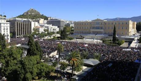 Syntagma square is absolutely filled, gas and shock bombs have been released by cops