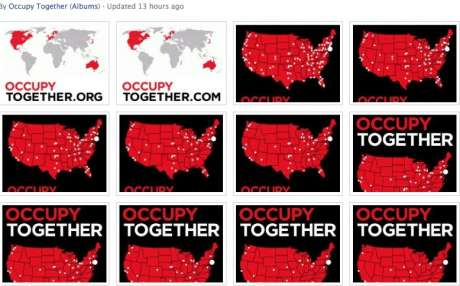 OCCUPY TOGETHER, interesting image to see the growth of US OCCUPY sites
