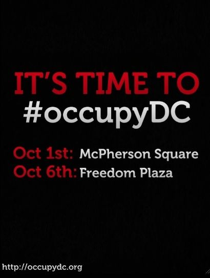 US getting ready to OCCUPY DC in 2 days on Thursday October 6th 2011