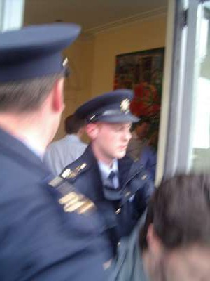 Gardai push out R.A.R who come to assist