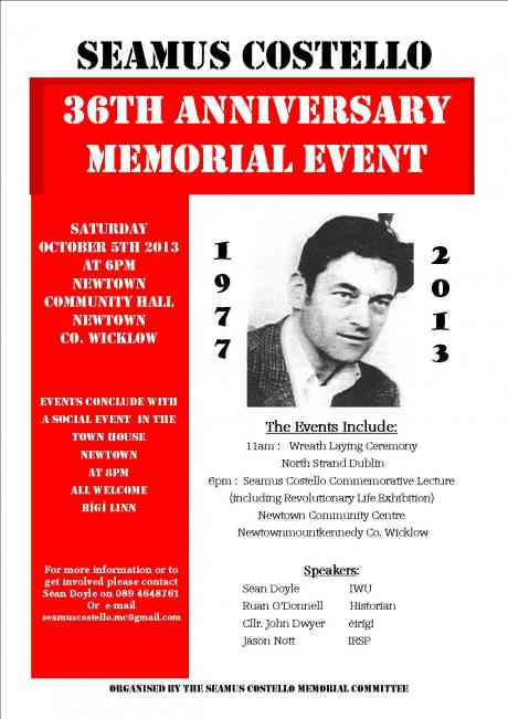 Seamus Costello Memorial Events